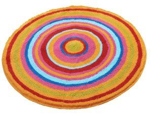 Πατάκι Μπάνιου Mandala 9105 Round Multicolor Kleine Wolke Medium