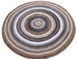 Πατάκι Μπάνιου Mandala 9105 Round Taupe Kleine Wolke Medium