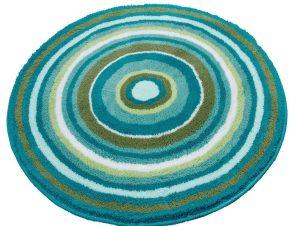 Πατάκι Μπάνιου Mandala 9105 Round Turquoise Kleine Wolke Medium