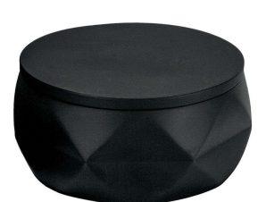 Βάζο Για Βαμβάκι Bad Organis. Crackle Jar 8046 10,5×6,0cm Black Kleine Wolke Polyresin