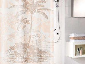 Κουρτίνα Μπάνιου Exotic 5964 Sandbeige Kleine Wolke Φάρδος 200cm