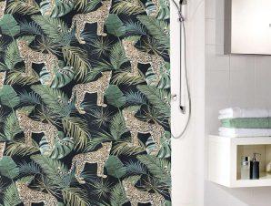 Κουρτίνα Μπάνιου Safari 5955 Green Kleine Wolke Φάρδος 200cm
