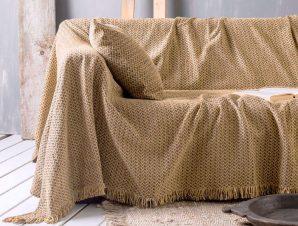 Ριχτάρι Vanda 03 Gold Ρυθμός Τριθέσιο 180x280cm