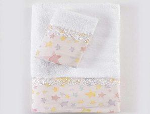Πετσέτες Σετ 3τμχ Σε Κουτί Glow Pink Ρυθμός Σετ Πετσέτες 80x150cm