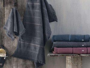 Πετσέτες Σετ 3τμχ Σε Σακούλα Lugano 01 Blue Ρυθμός Σετ Πετσέτες 75x150cm