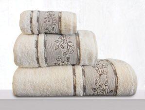 Πετσέτα Themis Cream Sb Home Προσώπου 50x90cm