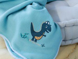 Κουβέρτα Βρεφική Πικέ Lelloland Light Blue Nima Κούνιας