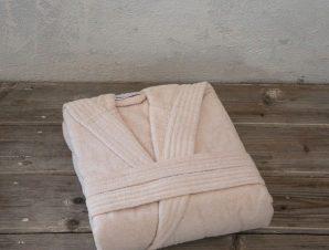 Μπουρνούζι Zen Με Κουκούλα Light Pink Nima X-Large