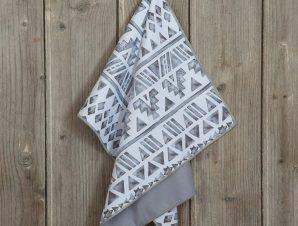 Πετσέτα Κουζίνας Monzu White-Grey Nima 40x60cm