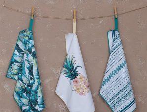 Πετσέτες Κουζίνας Azure Σετ 3τμχ Multi Nima 40x60cm