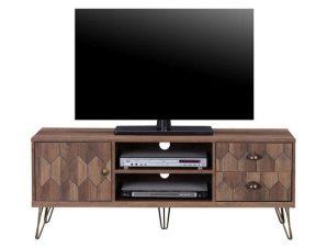 Έπιπλο Τηλεόρασης Philippa HM8674 Wallnut Gold 130x39x51Υ εκ.