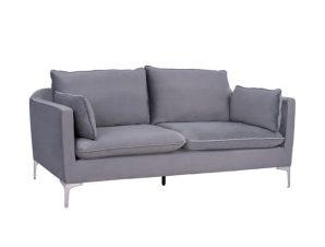 Καναπές 3Θέσιος Karen Grey HM3136.31 208x81x95 εκ.