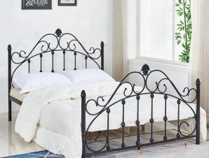 Κρεβάτι 150Χ200 Black HM576.01 Διπλό