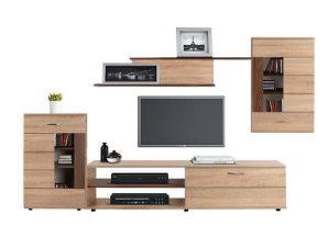 Σύνθεση-Βιτρίνα-Ντουλάπι Τηλεόρασης Amalfi Sonama-Wallnut HM11102.01