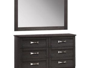 Τουαλέτα Συρταριέρα Με Καθρέπτη Zebrano HM10172.01