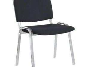 Καρέκλα Υποδοχής Milos 01.0202 53Χ57Χ46/77cm Black