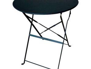 Τραπέζι Πτυσσόμενο Alma 24.0205 Φ70Χ71cm Black