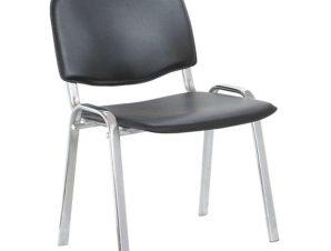 Καρέκλα Υποδοχής Milos 01.0226 53Χ57Χ46/77cm Black