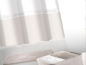 Κουρτίνα Με Πατάκι Μπάνιου Miami Σετ 4τμχ Ammos Guy Laroche Φάρδος 180cm