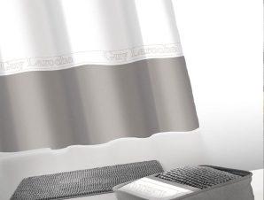 Κουρτίνα Με Πατάκι Μπάνιου Miami Σετ 4τμχ Anthracite Guy Laroche Φάρδος 180cm