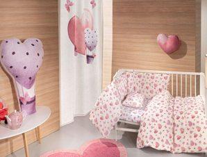 Σεντόνια Βρεφικά Sweet Heart Σετ 3τμχ Pink Guy Laroche Κούνιας