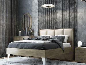 Κρεβάτι Νο.57 Diva 160×200 Oak Διπλό