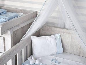 Κουβέρτα Βρεφική Πικέ Design 82 One Blue Byblos Κούνιας 100x140cm