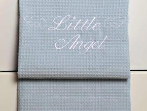 Κουβέρτα Βρεφική Πικέ Des. 321 Little Angel Blue Baby Oliver Κούνιας 100x140cm