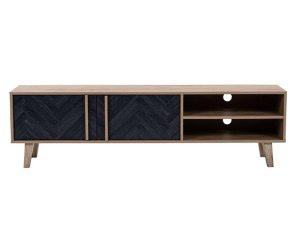 Έπιπλο Τηλεόρασης Albero 05-0435 160x35xH45cm Sonoma-Black