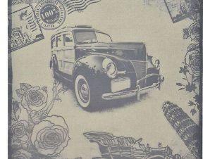 Πίνακας Printed Καμβάς 3-90-396-0001 Αυτοκίνητο 60Χ2,5Χ60 Inart Τετράγωνοι Καμβάς