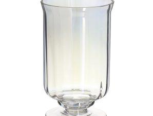 Βάζο Γυάλινο 3-70-289-0025 Clear Ιριδίζον Δ12,5Χ20 Inart Γυαλί