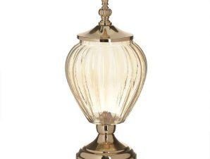 Βάζο Με Καπάκι 3-70-151-0133 Gold-Honey Δ15Χ35 Inart Μέταλλο,Γυαλί