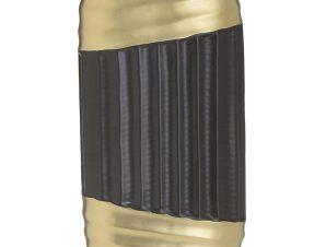 Βάζο 3-70-320-0015 Black-Gold 16Χ7Χ28 Inart Κεραμικό