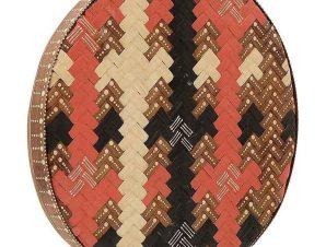 Διακοσμητικό Επιτοίχιο 3-70-724-0008 Δ50Χ5 Brown-Red Inart Bamboo