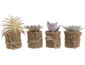 Διακοσμητικό Φυτό Σε Γλάστρα 4 Σχέδια 3-85-475-0222 Δ5Χ12 Beige Inart Πλαστικό