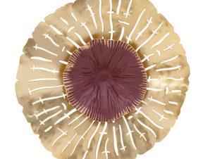 Διακοσμητικό Επιτοίχιο 3-70-874-0056 30X30X28 Gold Inart Μέταλλο