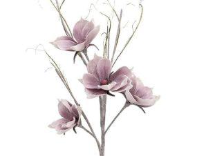 Διακοσμητικό Λουλούδι-Κλαδί 130cm 3-85-246-0089 Pink Inart Πλαστικό