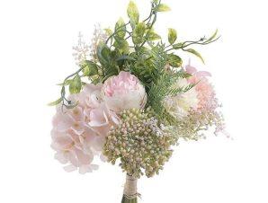 Διακοσμητικό Λουλούδι-Μπουκέτο 3-85-505-0060 Pink Υ38 Inart Ύφασμα