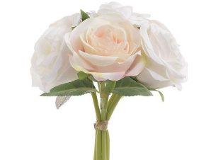 Διακοσμητικό Λουλούδι-Μπουκέτο 3-85-505-0051 Pink-White Υ24 Inart Ύφασμα