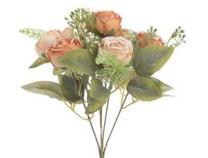 Διακοσμητικό Λουλούδι-Μπουκέτο 3-85-505-0063 Υ33 Orange Inart Ύφασμα