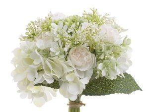 Διακοσμητικό Λουλούδι-Μπουκέτο 3-85-505-0062 Υ24 White Inart Ύφασμα