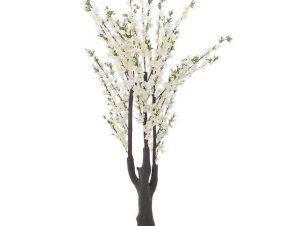 Τεχνητό Δέντρο 3-85-151-0002 Αμυγδαλιά Ανθισμένη H190 White-Brown Inart Μέταλλο,Πλαστικό