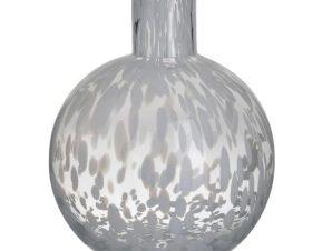 Βάζο Γυάλινο 3-70-621-0055 18Χ23 Clear-White Inart Γυαλί