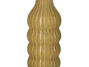 Βάζο Κεραμικό 3-70-755-0065 14Χ30 Yellow Inart Κεραμικό