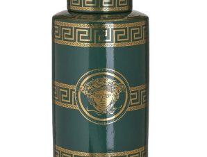 Βάζο Κεραμικό 3-70-902-0158 Μαίανδρος 18Χ32 Green-Gold Inart Κεραμικό