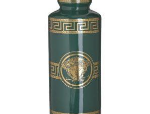Βάζο Κεραμικό 3-70-902-0164 Μαίανδρος 14Χ36 Green-Gold Inart Κεραμικό