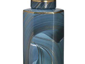 Βάζο Κεραμικό 3-70-902-0140 15Χ13Χ26 Blue Inart Κεραμικό