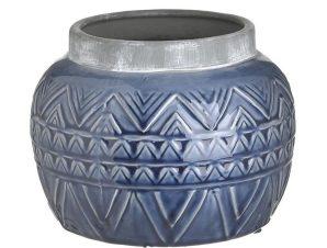 Βάζο Κεραμικό 3-70-456-0161 20Χ16 Blue Inart Κεραμικό