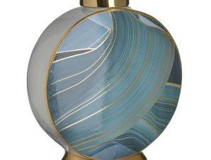 Βάζο Κεραμικό 3-70-902-0149 28Χ13Χ30 Blue-Gold Inart Κεραμικό