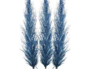 Κλαδί-Φυτό 3-85-909-0024 Σετ 3τμχ Υ110 Blue Inart Πλαστικό